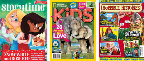 Children's magazine covers