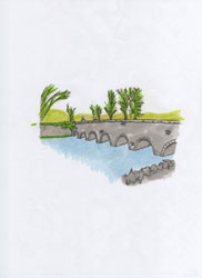 Drawing of Headfort Bridge