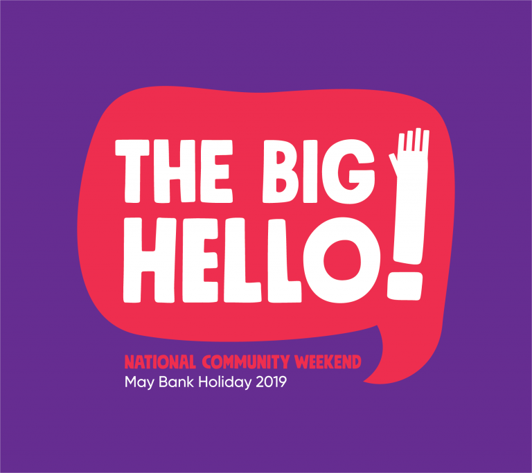 The national community weekend logo - the big hello