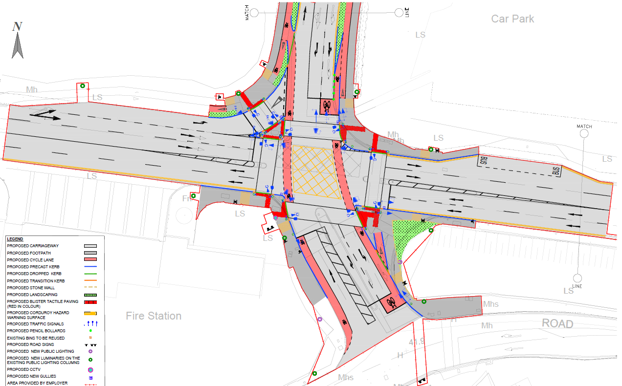 map of proposed road closures fire station junction, navan