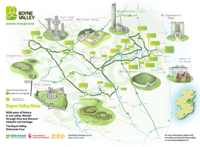 Heritage and Tourism - Map of the Boyne Valley