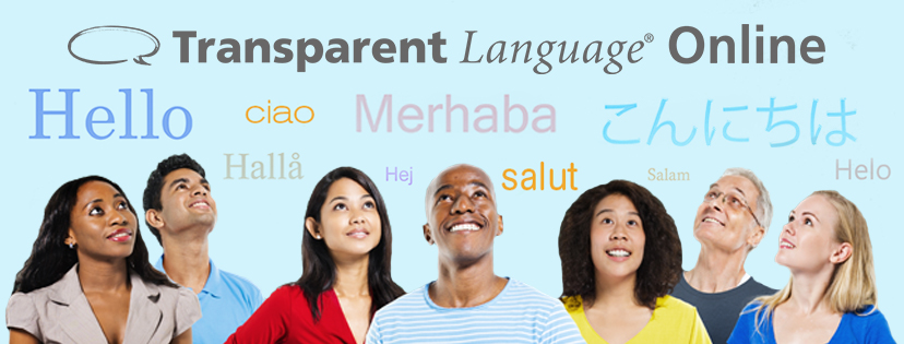 Transparent Language Online Banner with Speech Bubbles with Hello in Different Languages