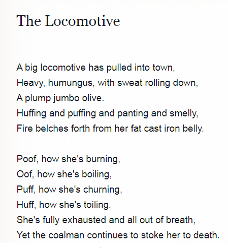 English Translation of Lokomotywa from AllPoetry.com