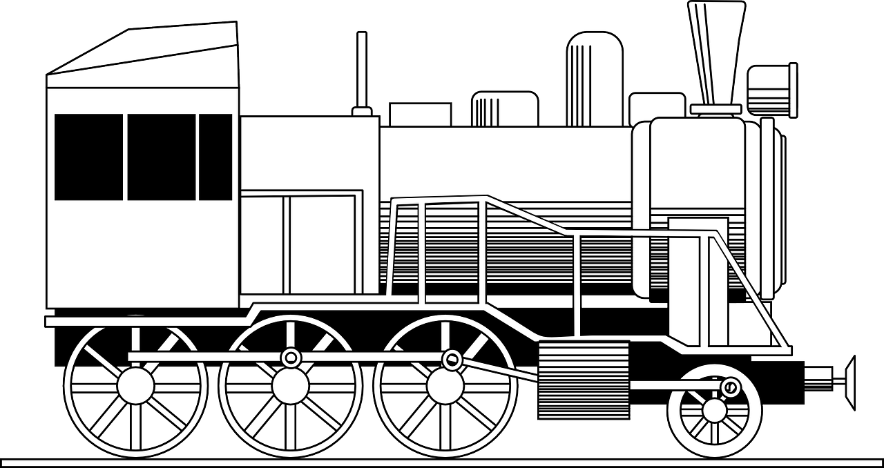 Locomotive Colouring Page