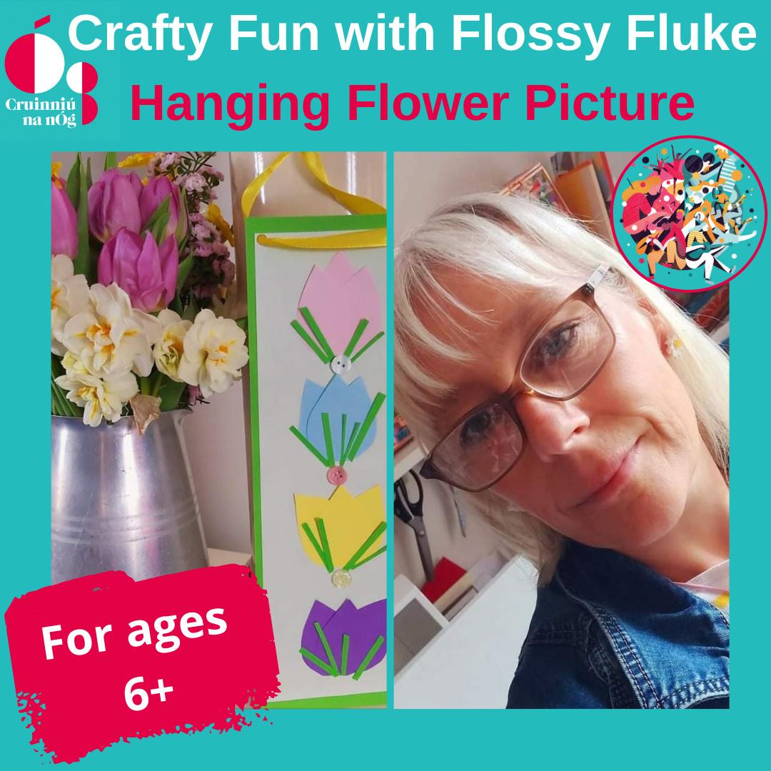Hanging flower picture craft flossy fluke