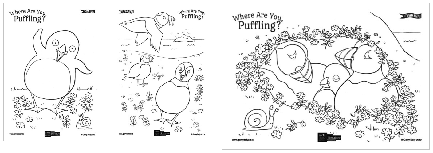 Puffling Colouring Pages