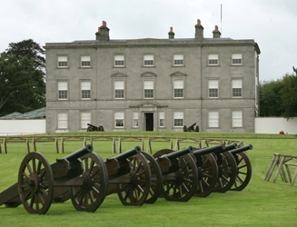 Battle of the Boyne Visitor Centre in County Meath with cannons
