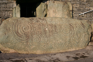 Newgrange, County Meath kerbstone with Celtic Swirls and Spirals