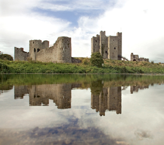 Trim Castle, County Meath with River Boyne