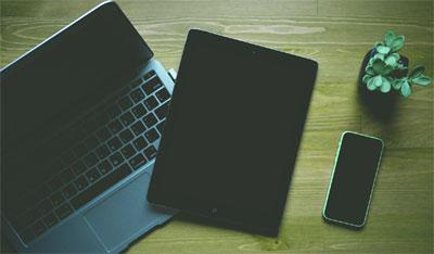 digital skills - photograph of laptop and tablet