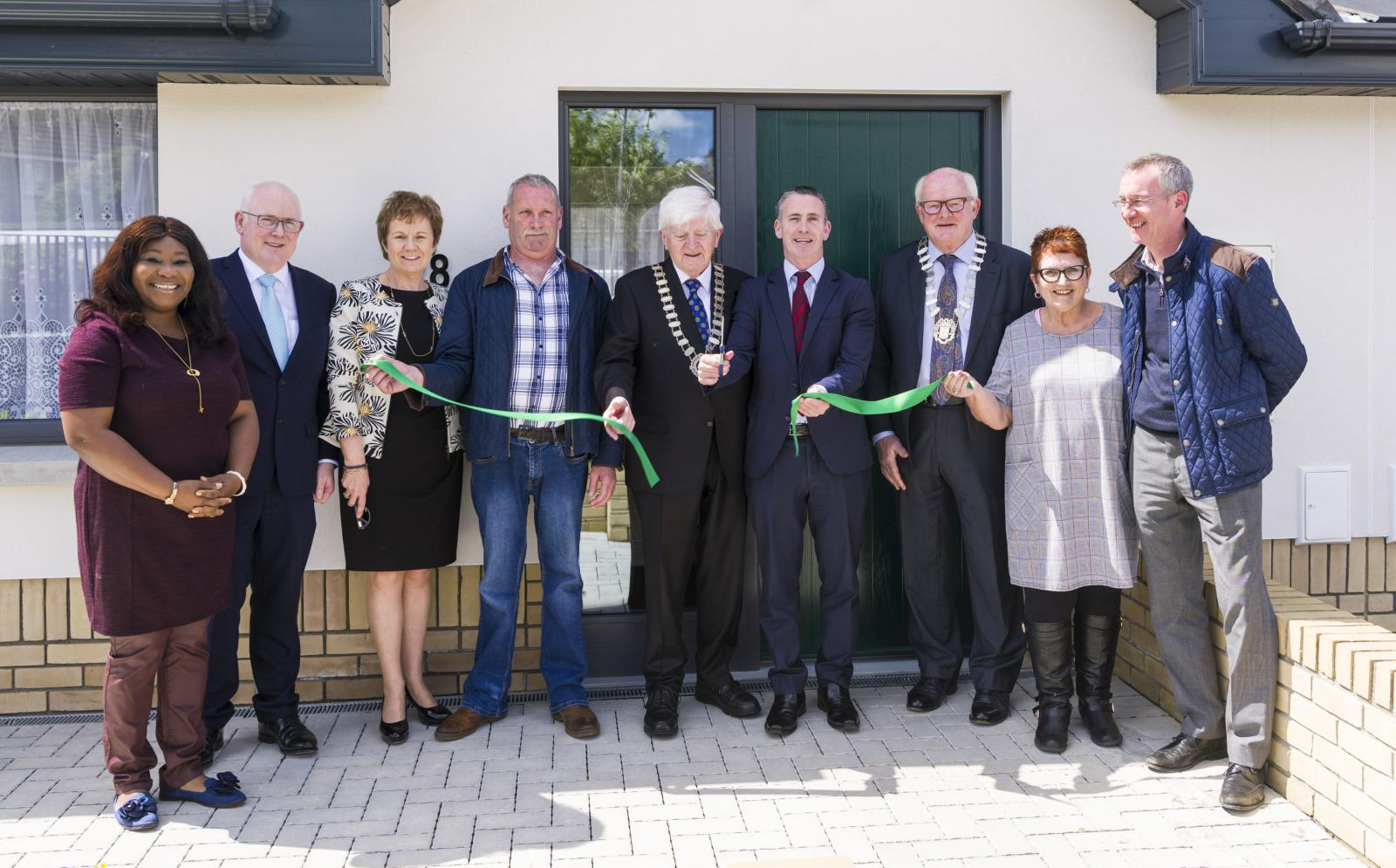 Meath County Council Age Friendly Housing Navan Launch. Ribbon cutting event