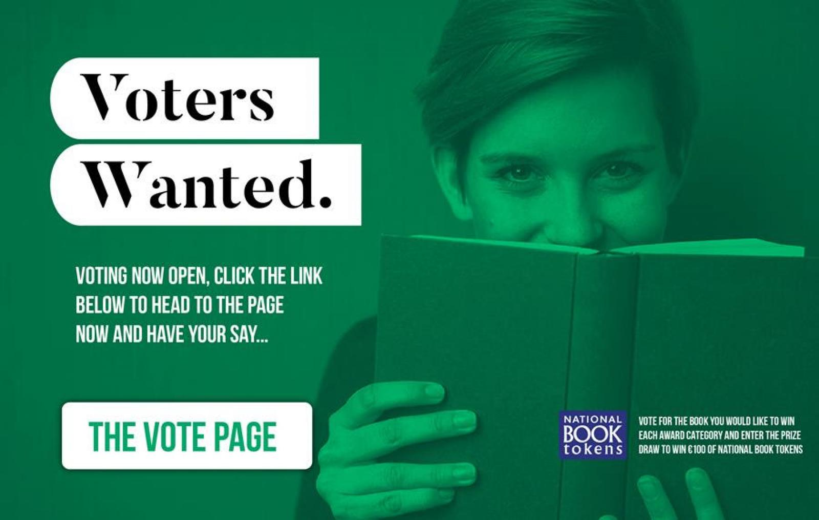 Voters Wanted Caption Beside Picture of Woman Reading