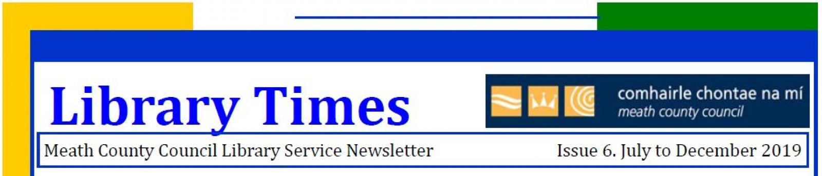 Library Times Newsletter Header